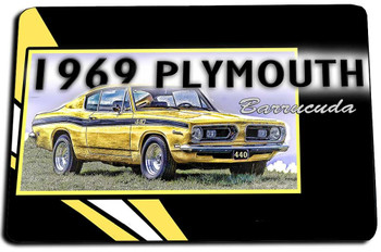 1979 Plymouth Barracuda Door Mat Rug