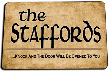 Matthew 7:7  Knock and the Door Will Be Opened To You Door Mat Rug