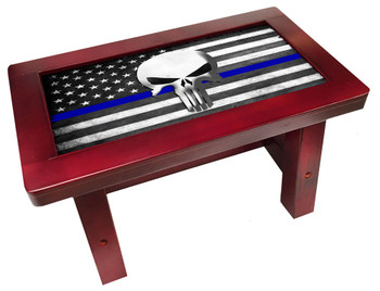 The Punisher Thin Blue Line Step Stool for Children or Adults