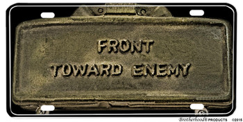 Front Toward Enemy Aluminum License Plate