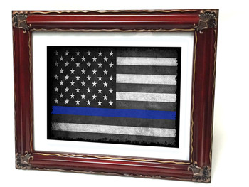 Thin Blue Line American Flag 8x10 Print