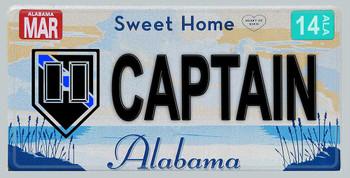 Alabama Police Captain Aluminum License Plate