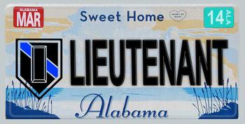 Alabama Police Lieutenant Aluminum License Plate