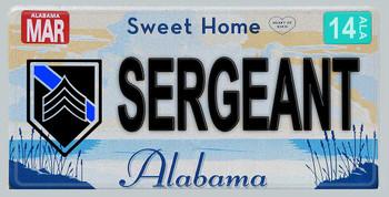 Alabama Police Sergeant Aluminum License Plate
