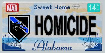Alabama Police Homicide Aluminum License Plate