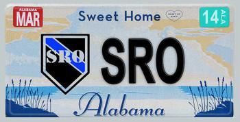 Alabama Police SRO Aluminum License Plate