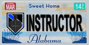 Alabama Police Instructor Aluminum License Plate