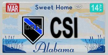 Alabama Police CSI Aluminum License Plate