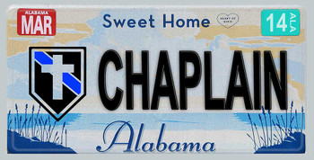 Alabama Police Chaplain Aluminum License Plate