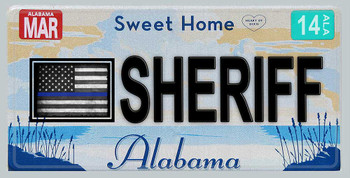 Alabama Thin Blue Line Sheriff License Plate