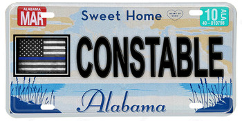 Alabama Thin Blue Line Constable License Plate
