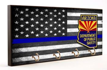 Thin Blue Line Arizona Highway Patrol Key Hanger