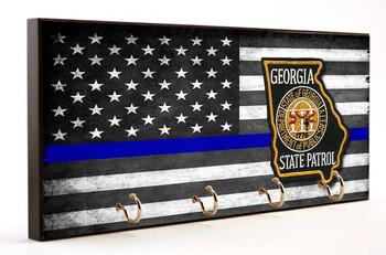 Thin Blue Line Georgia State Patrol Key Hanger