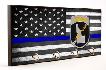 Thin Blue Line Idaho State Police Key Hanger