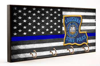 Thin Blue Line Louisiana State Police Key Hanger