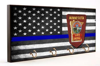 Thin Blue Line Minnesota State Patrol Key Hanger