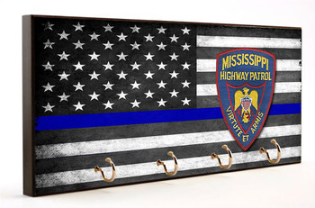 Thin Blue Line Mississippi Highway Patrol Key Hang