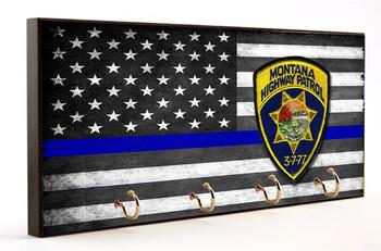 Thin Blue Line Montana Highway Patrol Key Hanger