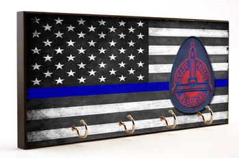 Thin Blue Line Nebraska State Patrol Key Hanger