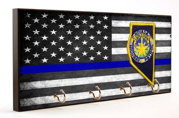 Thin Blue Line Nevada Highway Patrol Key Hanger