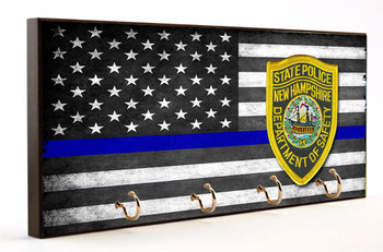 Thin Blue Line New Hampshire State Police Key Hang
