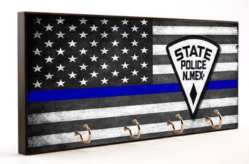 Thin Blue Line New Mexico State Police Key Hanger
