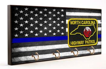 Thin Blue Line North Carolina Highway Patrol Key Hanger
