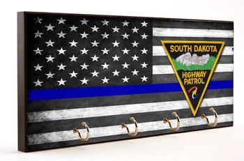 Thin Blue Line South Dakota Highway Patrol Key Hanger