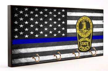 Blue Line Virginia State Highway Patrol Key Hanger