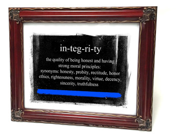Thin Blue Line Definition of Integrity 8x10 Framed Print