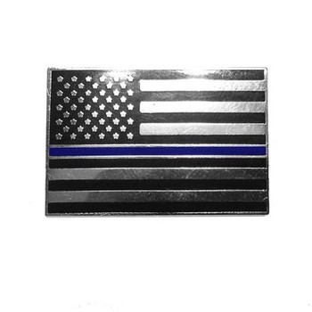 Thin Blue Line American Flag Lapel Pin Package of Two