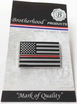 Thin Red Line Tactical American Flag Pin