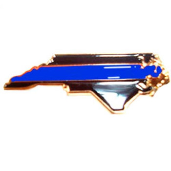 NC Shaped Thin Blue Line Pin