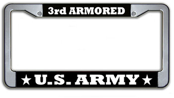 US Army 3rd Armored License Plate Frame