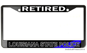 Retired Louisiana State Police License Plate Frame