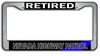 Retired Nevada Highway Patrol  License Plate Frame