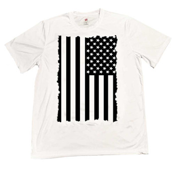 Subdued American Flag Moisture Wicking T-Shirt