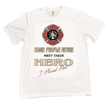 Maltese Cross Some People Never Meet Their Hero I Married Mine T-Shirt