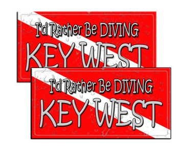 I'd Rather Be Diving Key West Decal for Police Divers
