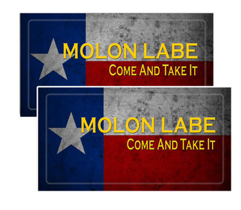 Molon Labe Decal Pack of 4