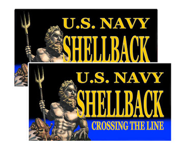 US Navy Shellback Crossing The Line Decals