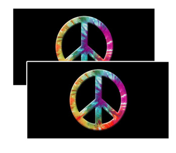 Tie-Dye Peace Sign Decal