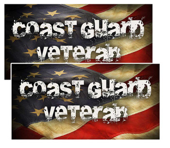 Coast Guard Veteran Distressed American Flag Decal