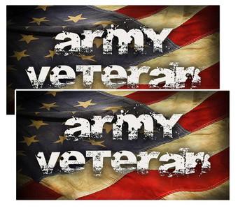 Army Veteran Distressed American Flag Decal