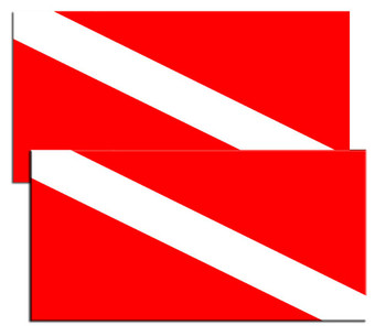 International Dive Divers Down Flag Decals Pack Of Four by Brotherhood Products