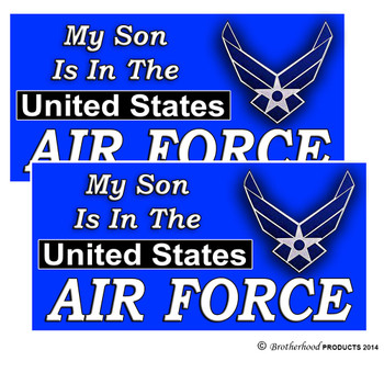 My Son Is In The United States Air Force Car Decal