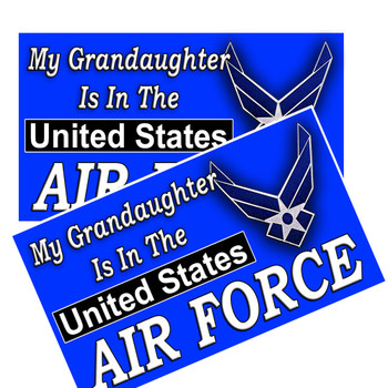 My grandaughter is in the United States Air Force Decal