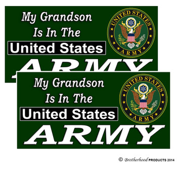 My Grandson Is In The US Army Decals Pack of 4