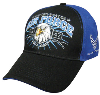 Air Force Military Official Hat Great Logo EAGLE BURST