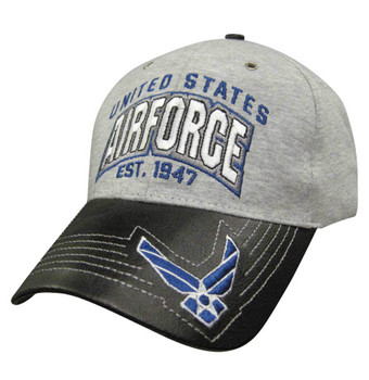 Military Heather Leather: Air Force Hat